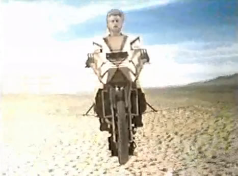 Barry Bostwick and his flying motorcycle
