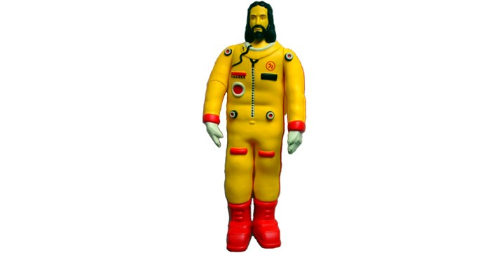 Jesus is an astronaut, and he's also bright yellow somehow