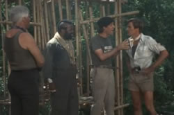 The team in jungle captivity