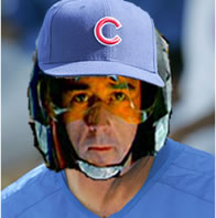 Wedge Antilles in a Cubs uniform