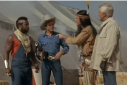 The A-Team in Wild West gear