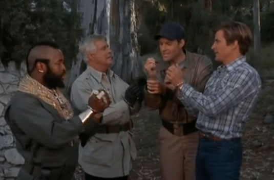 The A-Team takes off handcuffs