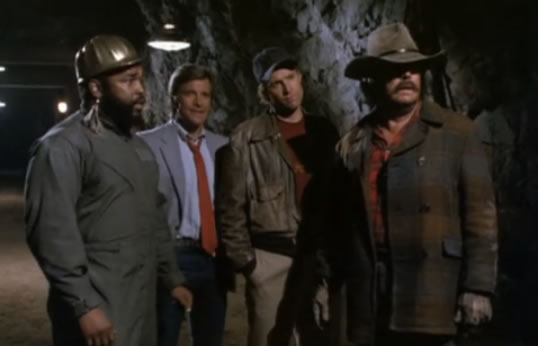 The A-Team inside a mine