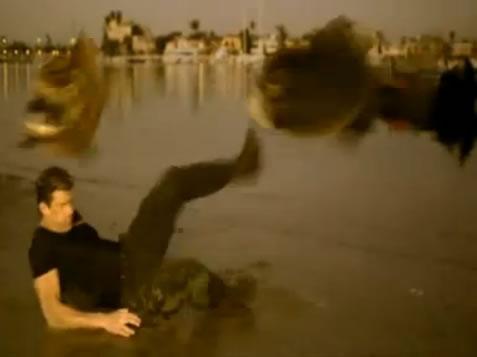 Kicking flying mega piranha
