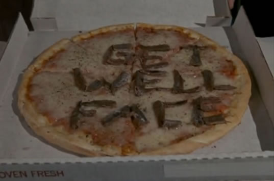 The 'GET WELL FACE' pizza