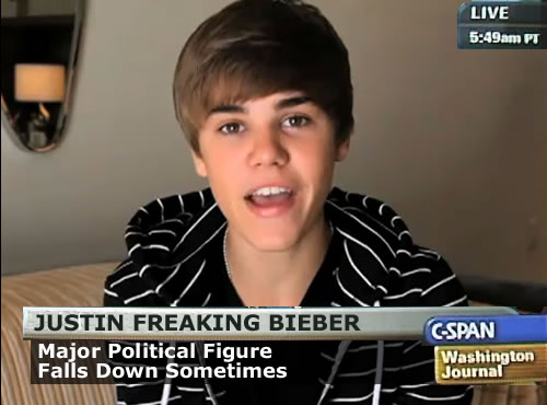 Justin Bieber on C-SPAN? It could happen.