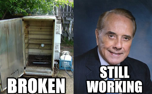 Refrigerator is broken, Bob Dole is still working