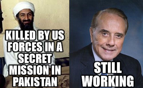 Bin Laden Killed, Bob Dole Still Working
