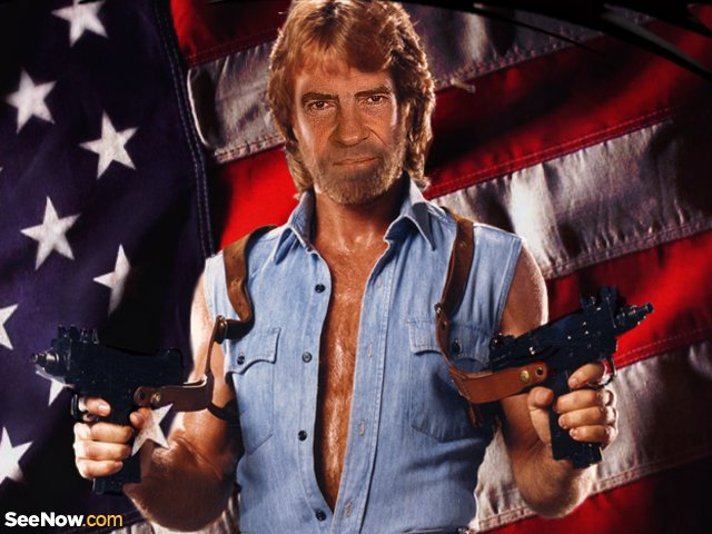 Richard Nixon as Chuck Norris