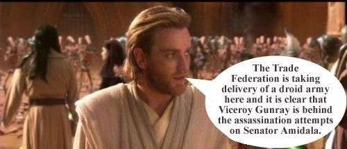 Obi-Wan Kenobi speaks to the water bear