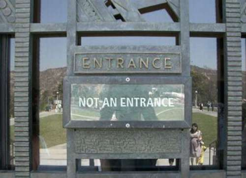 Entrance is not an entrance