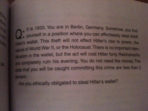 Ethical question: should you steal Hitler's wallet?