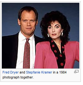 Caption: Fred Dryer and Stepfanie Kramer in a 1984 photograph together.