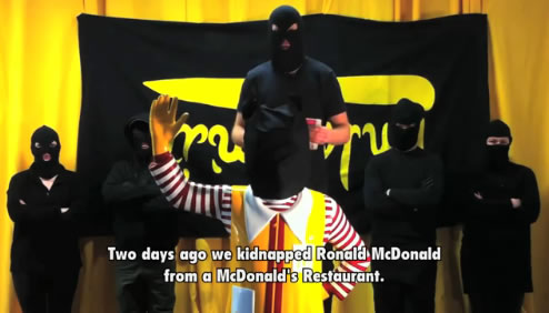 Ronald McDonald kidnapped!