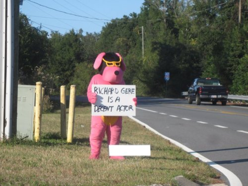 "Pink Dog Costume Guy: ""Richard Gere is a Decent Actor"""