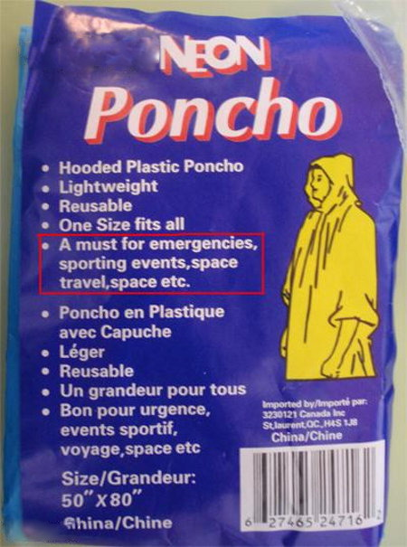 "Poncho is ""a must for space travel"""