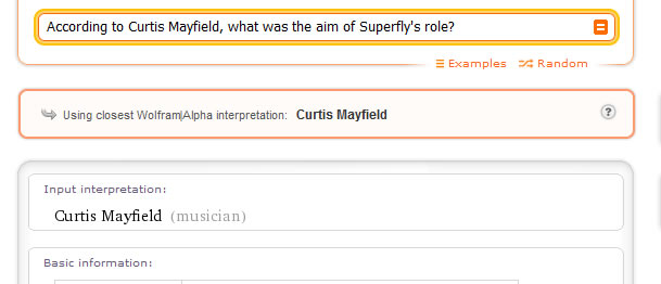 According to Curtis Mayfield, what was the aim of Superfly's role?