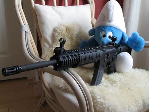 Smurf with a gun