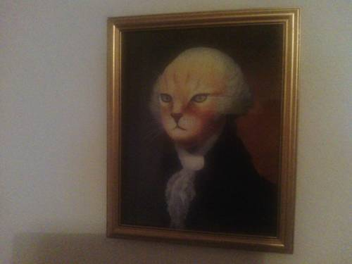 Portrait of George Washington as a cat