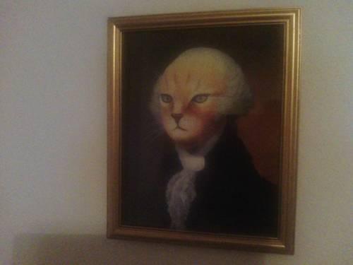 Portrait of George Washington as a cat