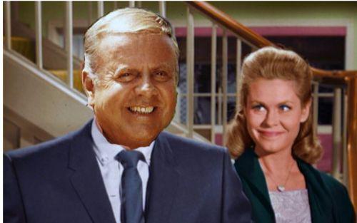 "Dick Van Patten and Elizabeth Montgomery star in ""Bewitched""!"