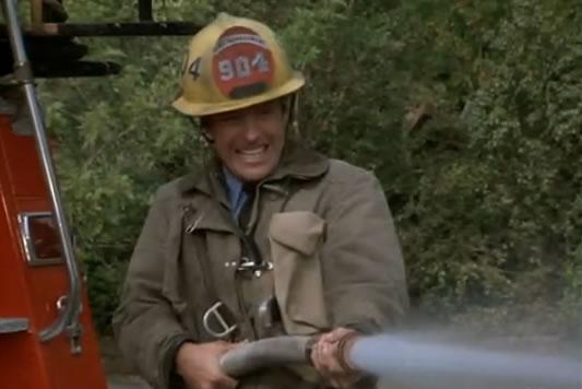 Murdock shoots a firehose
