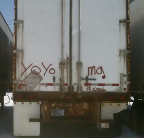 "Truck graffiti: ""Yo-Ya Ma is cool"""