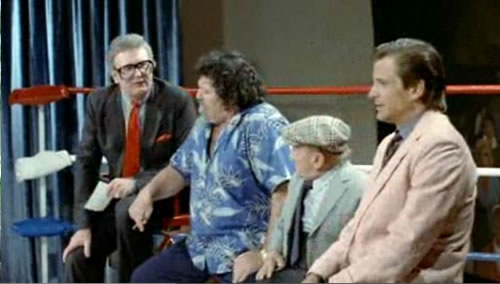 Charles Nelson Reilly, Captain Lou Albano, Billy Barty and Dirk Benedict