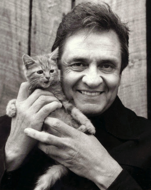 Johnny Cash and a kitteh