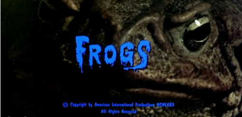 Frogs title screen