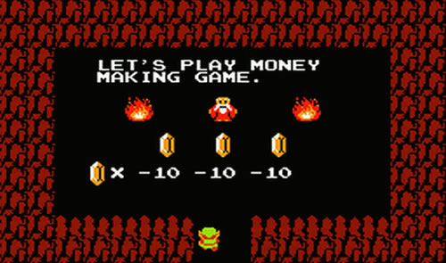Let's play money making game.