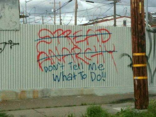 Spread Anarchy - DON'T TELL ME WHAT TO DO