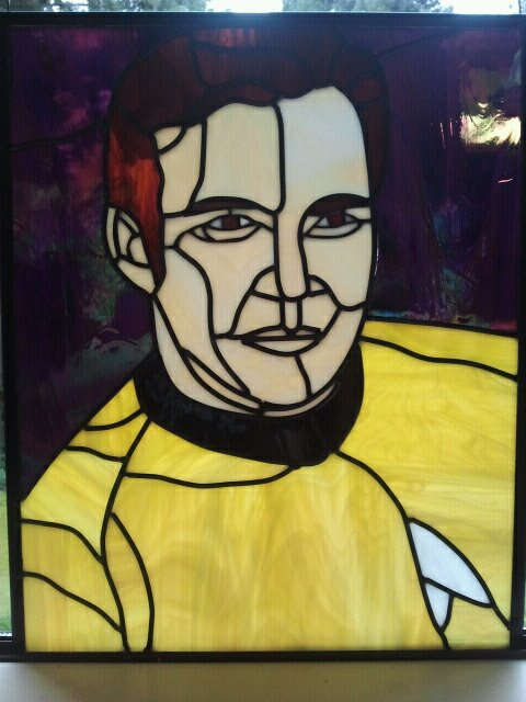 Captain Kirk in stained glass