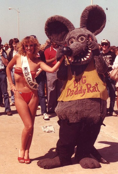 """Big Daddy Rat"" with a pageant winner"
