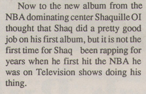 "Shaq's record gets rave reviews from ""Hot Jams"""