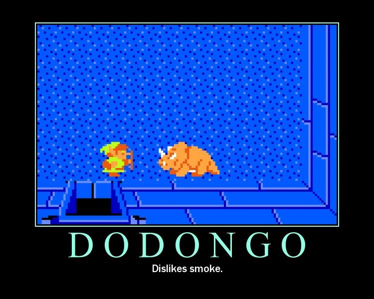 Dodongo. Dislikes Smoke.