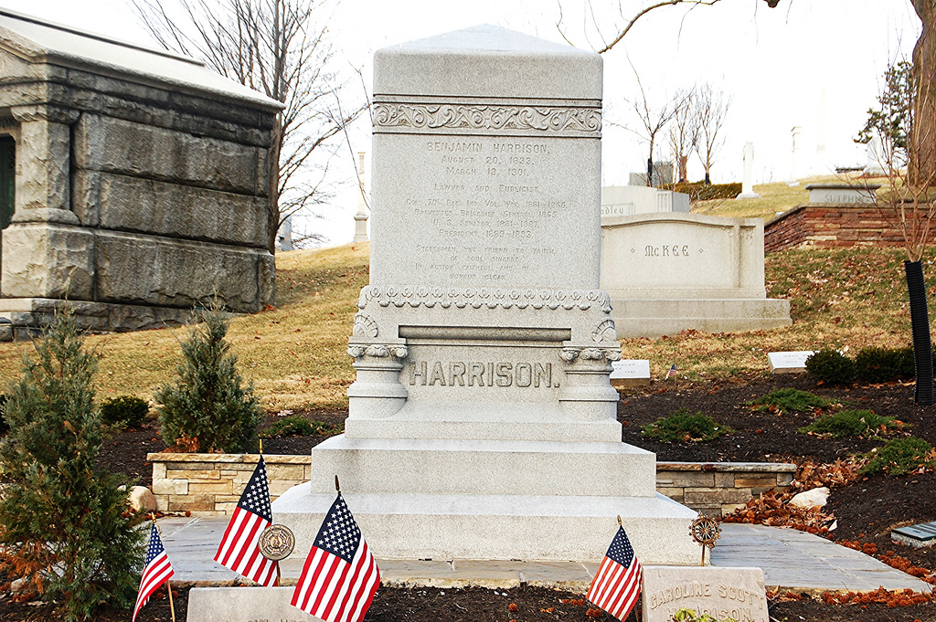 Benjamin Harrison's grave