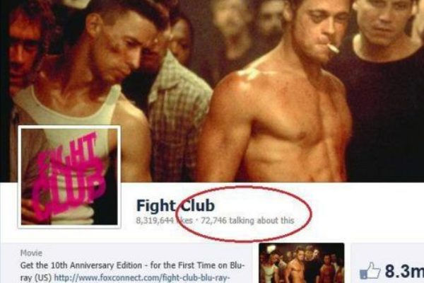 some 70,000 people are talking about Fight Club