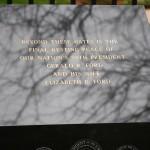 Marker outside Ford gravesite