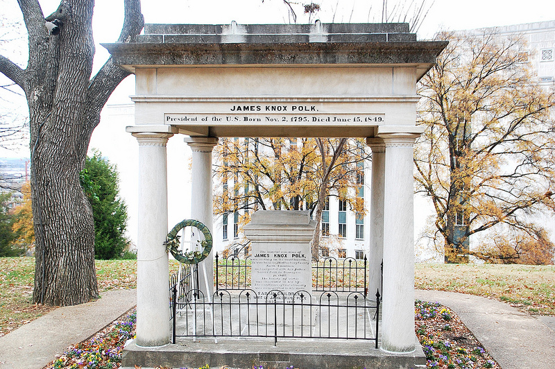 James K. Polk's tomb in Nashville