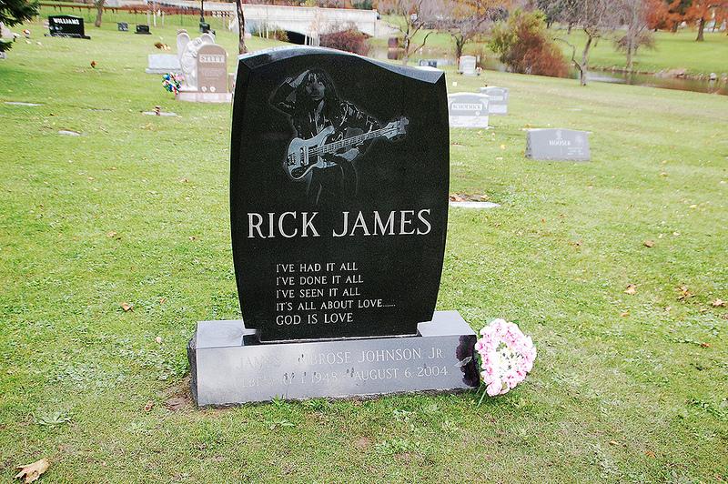 Rick James gravestone