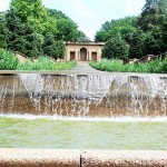 This fountain is the centerpiece of Washington's Meridian Hill Park. The Buchanan Memorial is just to the fountain's right.