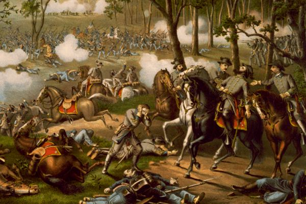 Painting of the battle of Chancellorsville