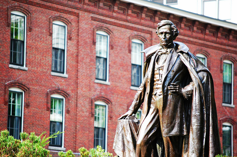 Franklin Pierce Statue in Concord