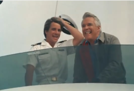 Face and Hannibal on a boat