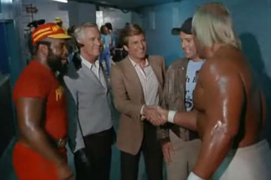 The team meets Hulk Hogan