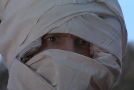 Murdock as a scarecrow