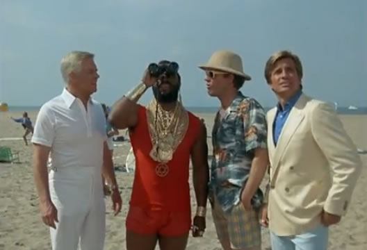 The A-Team on the beach