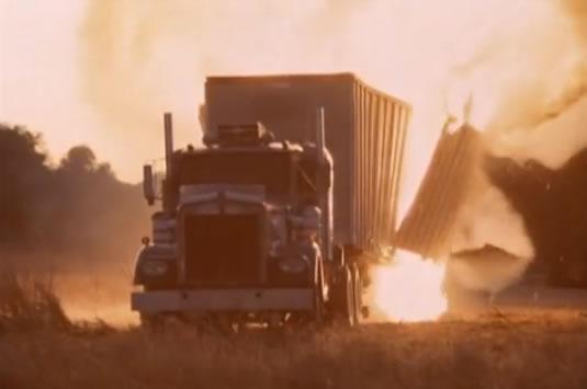 Exploding truck