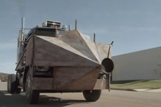 The new armor-plated semi-truck